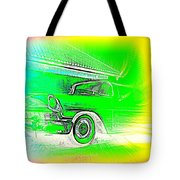 In Your Future I Can See Fragments Of An Old Car Called Bel Air  Tote Bag