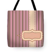 Frame With Ribbon Pinstripe Vector Tote Bag