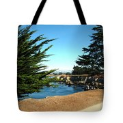 Framed By Cypress Trees Tote Bag