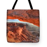 Framed By Mesa Arch Tote Bag