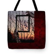 Framed Cherry Blossoms - Featured In Comfortable Art And Nature Groups Tote Bag