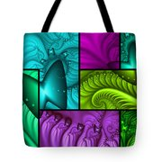 Framed Neon Colors Tote Bag