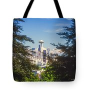 Framed Space Needle Tote Bag