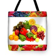 Framed Veggies Tote Bag