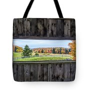 Framed-autumn In Vermont Tote Bag