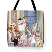 France In The 18th Century Tote Bag by Georges Barbier