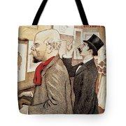 France Paris Poster Of Paul Verlaine And Jean Moreas Tote Bag