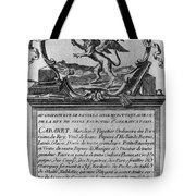 France Trade Card, 1780s Tote Bag