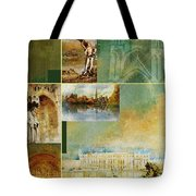France Unesco World Heritage Poster Tote Bag
