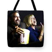 Frances Mcdormand And George Clooney @ Burn After Reading Tote Bag