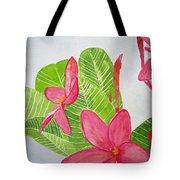 Frangipani Tree Tote Bag