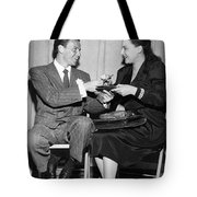 Frank Sinatra Signs For Fan Tote Bag
