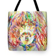 Frank Zappa Watercolor Portrait.1 Tote Bag