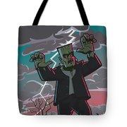 Frankenstein Creature In Storm  Tote Bag