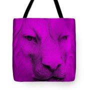 Frankie Lion Purple Tote Bag