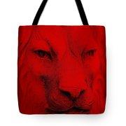 Frankie Lion Red Tote Bag