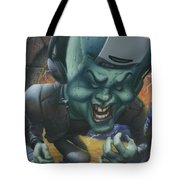 Frankinstein Playing The Air Guitar - Parody - Illustration - Monster Monsters - Humorous Tote Bag