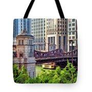 Franklin Street Bridge Tote Bag
