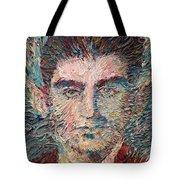 Franz Kafka Oil Portrait Tote Bag