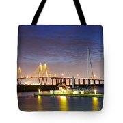 Fred Hartman Bridge From Bayland Marina - Houston Texas Tote Bag