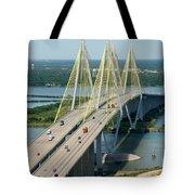 Fred Hartman Bridge Houston Tote Bag