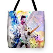 Freddie Mercury - Queen Original Painting Print Tote Bag