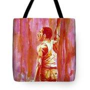 Freddie Mercury Singing Portrait.3 Tote Bag