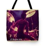 Freddie White Playing Drums Spirit Tour Tote Bag