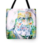 Frederick Douglass - Watercolor Portrait Tote Bag