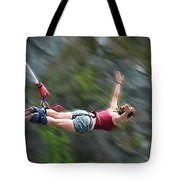 Free As A Bird Bungee Jumping Tote Bag