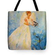 Free At Last, Angel Tote Bag
