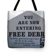 Free Derry Corner, Republican Political Tote Bag