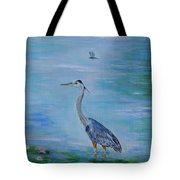 Free Spirit Blue Heron Tote Bag