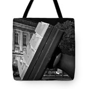 Free Stamp In Black And White Tote Bag