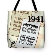 Freedom Everywhere In The World Tote Bag