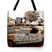 Freedom Of Speech On Wheels Tote Bag by Desiree Paquette