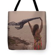 Freedom On Top Of A Cliff Tote Bag