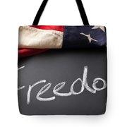 Freedom Sign On Chalkboard Tote Bag