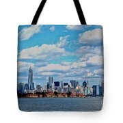 Lower Manhattan Tote Bag