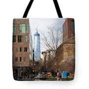 Freedom Tower From Washington Square Tote Bag