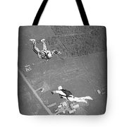 Freefalling Nova Scotia Skydivers In Stewiacke Tote Bag