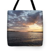 Freeport Cloudy Summertime Sunset Tote Bag