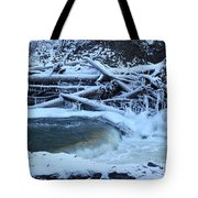 Freezing Dam Tote Bag