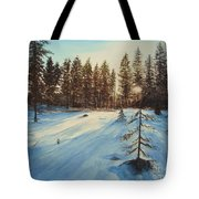 Freezing Forest Tote Bag
