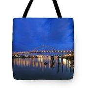 Fremont Bridge Blues Tote Bag