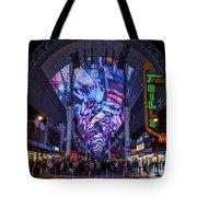 Fremont Street Lights Tote Bag