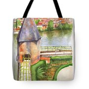 French Battlement Tower Tote Bag