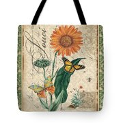 French Botanical Damask-a Tote Bag
