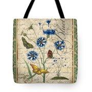 French Botanical Damask-b Tote Bag