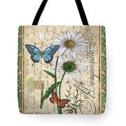 French Botanical Damask-d Tote Bag